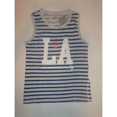 110-116-os kék-fehér csíkos ujjatlan póló - H&M