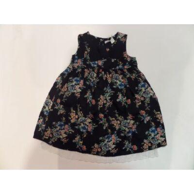 110-es csipkés aljú fekete mintás ruha - Ladybird