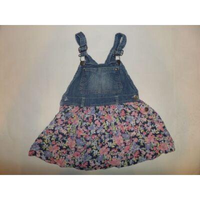 110-es virágos aljú farmer kantáros ruha - Next