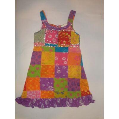 116-os kockás flitteres színes ruha
