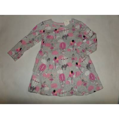 86-92-es szürke-rózsaszín egeres ruha - F&F