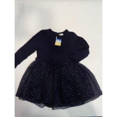 86-os sötétkék tüllös ruha - Pepco - ÚJ