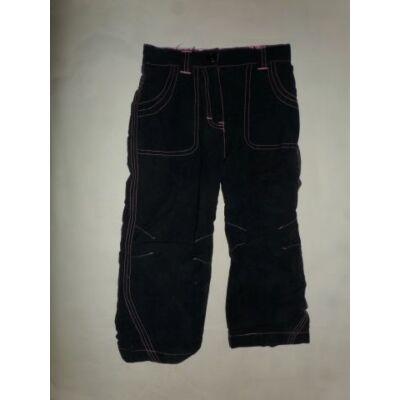 98-as sötétkék pamut bélésű lány nadrág - Impidimpi