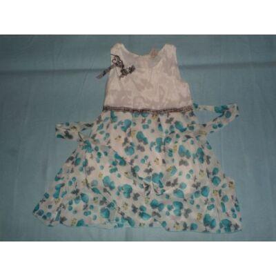 116-os fehér-kék epres ujjatlan ruha