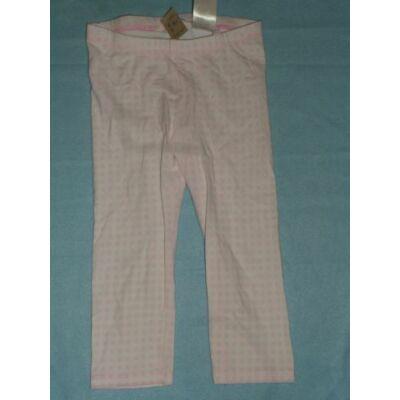116-os fehér-rózsaszín kockás leggings - H&M