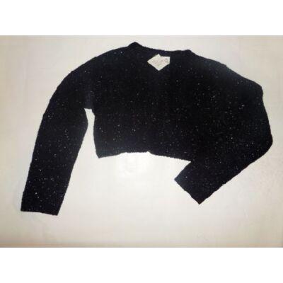 116-os fekete csillogó kötött boleró - Adams