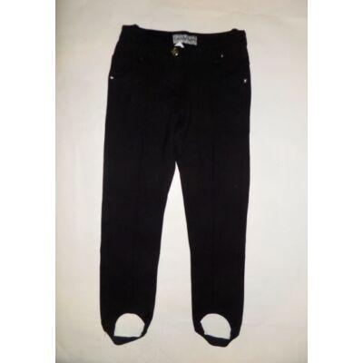 128-as fekete pamut nadrág kilslánynak