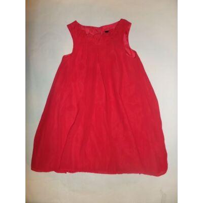 128-as piros alkalmi duplarétegű ruha