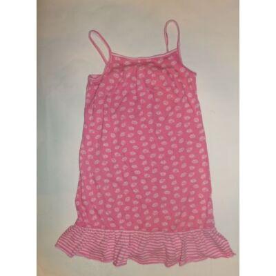 134-es rózsaszín spagettipántos muffinos ruha - Next