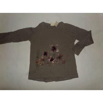 110-es szürke virágos pamutfelső - Zara