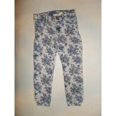 110-es kék virágos farmernadrág - Zara