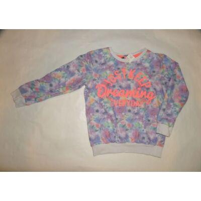 122-128-as virágos feliratos pulcsi - George