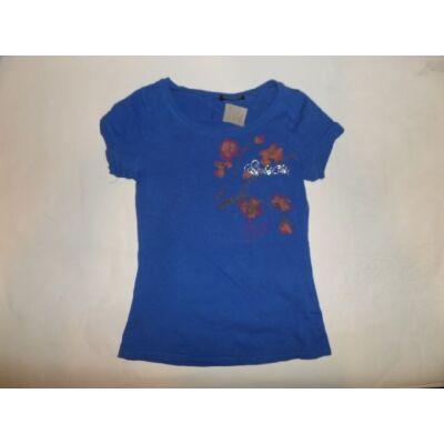 152-158-as kék virágos póló