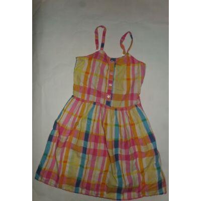 152-es rózsaszín-kék kockás pántos ruha - Young Dimension