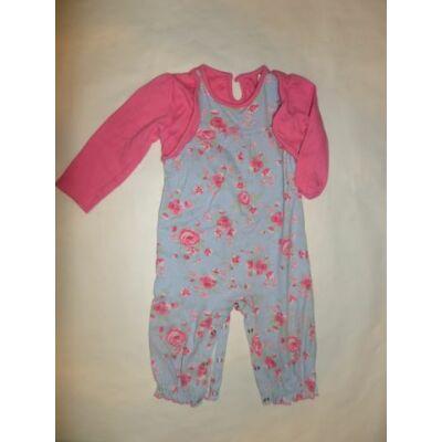 80-as rózsaszín-kék virágos lábfej nélküli rugi