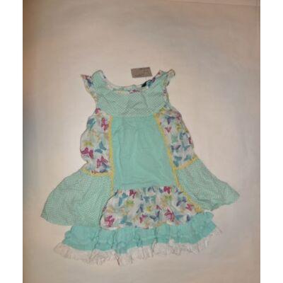 92-98-as zöld virágos ujjatlan ruha - George