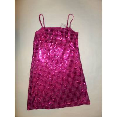 110-116-os rózsaszín csillogó alkalmi ruha