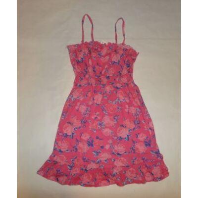 146-os rózsaszín virágos pántos ruha - F&F