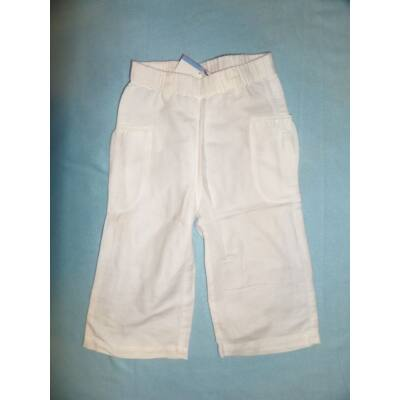 86-os fehér lenes kislány nadrág - H&M