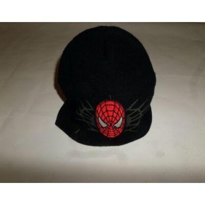 46-50 cm-es fejre fekete kötött sapka - Pókember, Spiderman