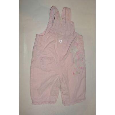62-es rózsaszín pamut bélésű kantáros kordnadrág - Next
