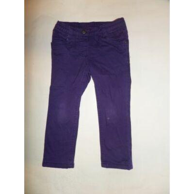 98-as lila vékony polárral bélelt lány farmernadrág - Lupilu