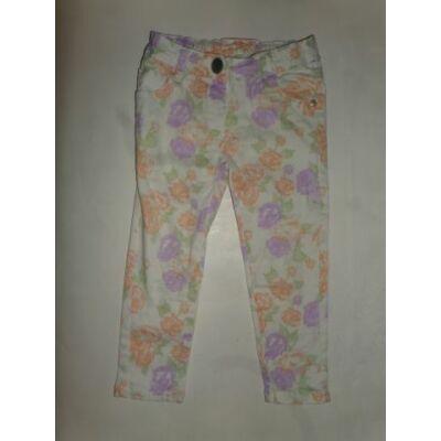 98-as pasztellszínű virágos farmernadrág