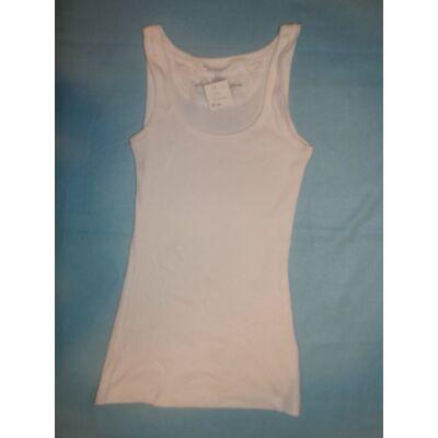 158-as fehér bordás lány póló - H&M