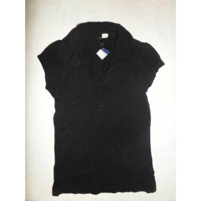 152-es fekete lány piké póló - H&M
