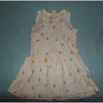 80-86-os fehér fagyis ujjatlan ruha