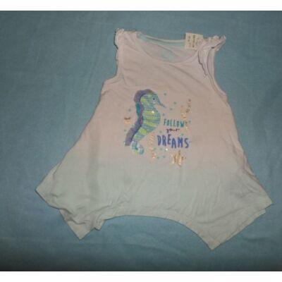 92-es kék csikóhalas póló - F&F