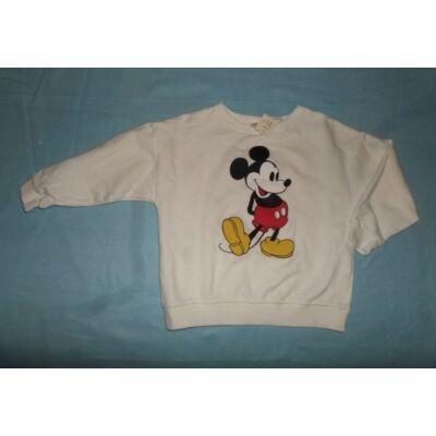 116-os fehér lány pulóver - Miki Egér