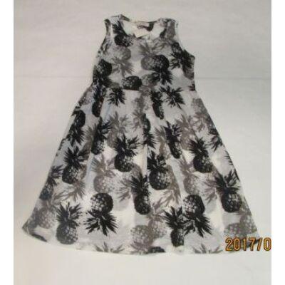 128-as fehér-fekete ananászos ujjatlan ruha