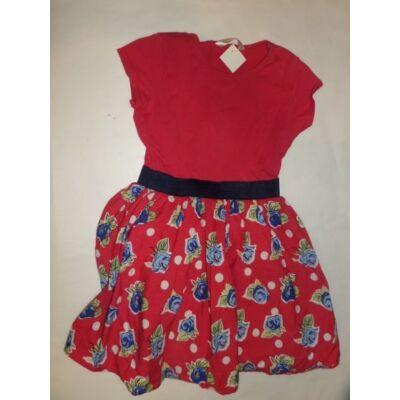 116-os piros virágos nyári ruha - Dress Shop