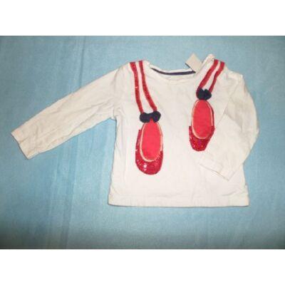 68-74-es balettcipő-mintás pamutfelső