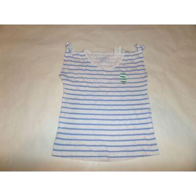 128-as fehér-kék csíkos ujjatlan lány póló - Young Dimension