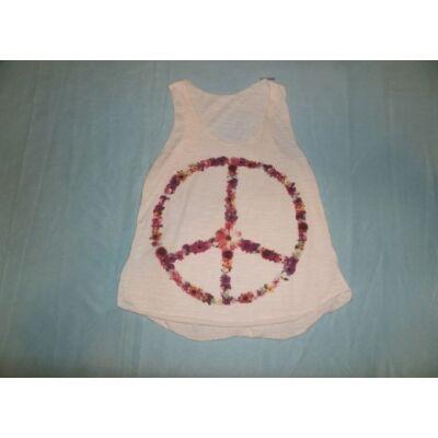 158-164-es fehér ujjatlan lány póló