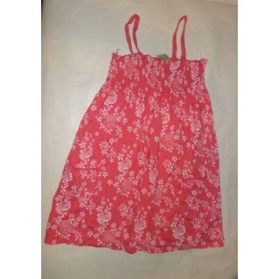 158-as rózsaszín virágos pántos ruha