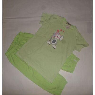 158-as zöld csíkos nyuszis pizsama