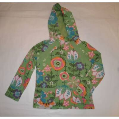 128-as zöld virágos polár pulóver - Next
