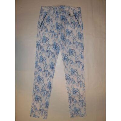 146-os fehér-kék mintás lány nadrág - Coccodrillo