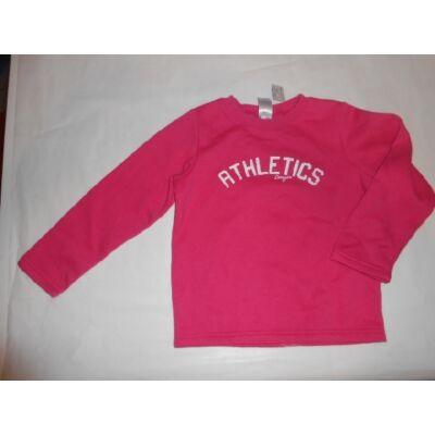 104-110-es rózsaszín feliratos pulcsi - Domyos, Decathlon