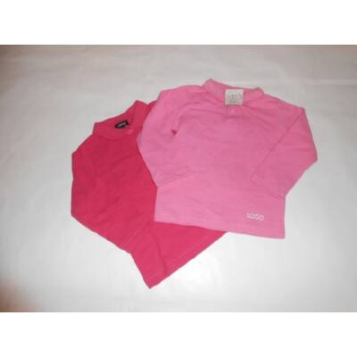 80-as rózsaszín pamutfelsők, 2 db egyben - Logo