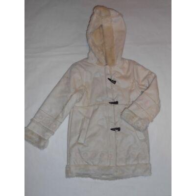 110-es drapp szőrmével bélelt velúr hatású kabát