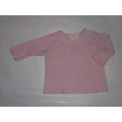 68-as rózsaszín virágos pamutfelső - Hema