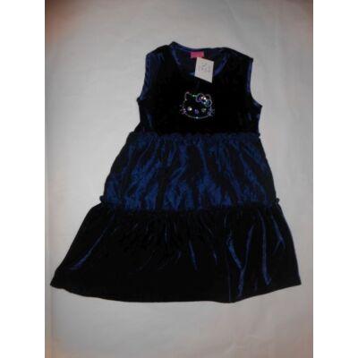 116-os kék plüss ujjatlan alkalmi ruha - Hello Kitty