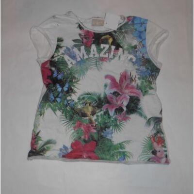 104-es virágos póló - Zara
