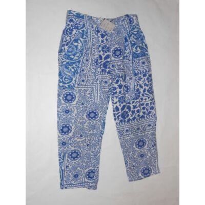 110-es kék virágos lenge nadrág - Zara