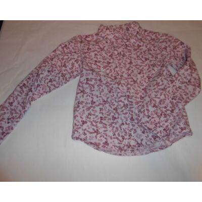 122-es rózsaszín virágos hosszúujjú blúz - H&M