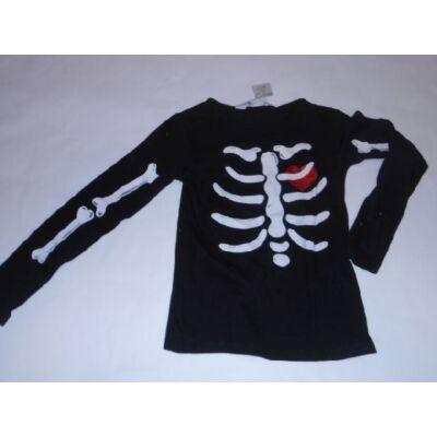 110-116-os fekete csontvázas lány pamutfelső - H&M